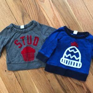 2 baby sweatshirts